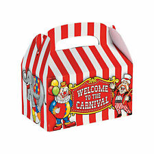 Big Top Favor Boxes - Party Supplies - 12 Pieces