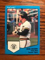 1989 ProCards #1537 Mark McGwire Baseball Card Tacoma Tigers Raw
