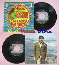LP 45 7'' FABIO Vorrei sapere Viva la notte italy BENTLER BE NP 5035 cd mc dvd*