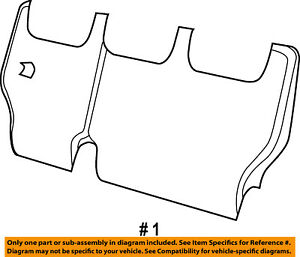 Dodge CHRYSLER OEM Grand Caravan Third Row Seat-Seat Back Cover Right 5YD96XR4AA