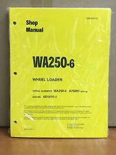 Heavy equipment manuals books for komatsu wheel loader ebay komatsu wa250 6 wheel loader shop service repair manual fandeluxe Images