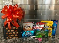 Halloween Gift Basket / Box For Kids Candy, Cookies, ect. Orange Bow & Card