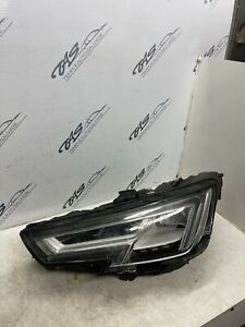 AUDI A4 B9 2017 LH LED HEADLIGHT 8W0941033A **DAMAGED FOR PARTS SEE PICS**