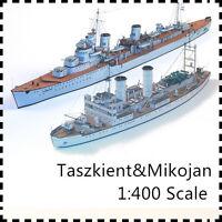 1:400 Scale Soviet Destroyer Leader Taszkient Icebreaker Mikojan Paper Model Kit