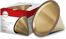 Osaka Gold Cone Dripper Pour Over Coffee Filter Reusable Titanium Steel