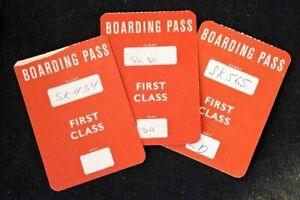 SAS Scandinavian Airlines  3 x Boarding Cards   First Class