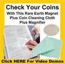 Les tests de pièce aimant pur / 925/999 silver solide pièces d'or testeur + carte loupe