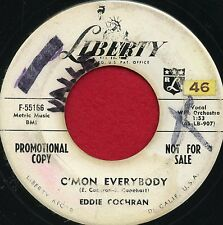 "EDDIE COCHRAN ""C'mon Everybody/Don't..Go"" Liberty 55166 VG+ Rockabilly WLP"