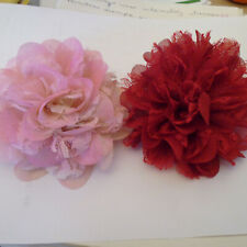 2  FLOWER HAIR DECOR/CLOTHES DECOR YOUR CHOICE!... .OPTION TO BUY SINGULARLY