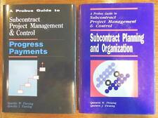 2 books A Probus Guide to Subcontract Project Management and Control by Fleming
