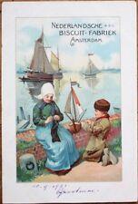 Nederlandsche Biscuit Fabrik, Amsterdam 1903 Advertising Postcard - Color Litho
