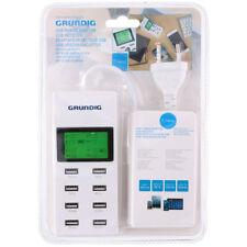 CARICABATTERIA CON 8 PORTE USB DISPLAY ALIMENTATORE SMARTPHONE TABLET GRUNDIG