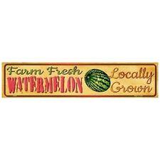 "Indoor/Outdoor Farm Fresh Locally Grown Watermelon Mini Street Sign 4"" x 18"""