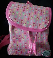 Caboodles Adorbs Mini Backpack Pink Arrows Makeup Organizer Toiletry Bag Tote