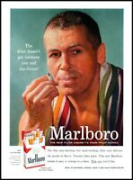 1955 Marlboro man smoking cigarettes filter pack vintage photo print Ad  ads7