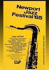 More details for newport jazz festival 1965 concert poster wall art  unframed picture jazz music