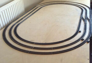 JOB LOT OF HORNBY OO GAUGE TRACK, ENOUGH TO CREATE 3 X OVALS