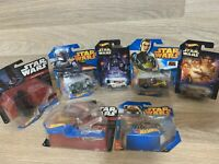 Hot Wheels Joblot Of 7 Star Wars 1/64 Scale In Good Condition