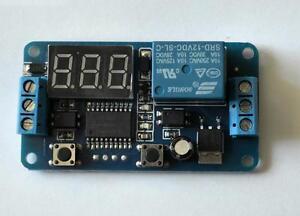 12V LED Display Digital Delay Timer Control Switch Module PLC Automation.U.K.