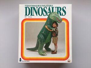 "1987 Intex Tyrannosaurus Inflatable 55"" Tall Dinosaurs Made Taiwan New Sealed"
