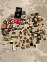 Huge Lot of Pins, Club, Political, Advertising, Patriotic, Olympic & Misc.