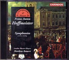 Franz Anton HOFFMEISTER 3 Symphony MATTHIAS BAMERT CD La festa della Pace 1791