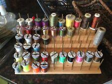 Oasis Thread Rack, New, w/39 Rare Silk etc. Thread Spools