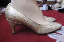 50S Personality Gold Metallic Heels Sz 7