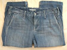 7 For All Mankind Charlie Crop Medium Wash Womens Jeans Size 29 (G5#2814)