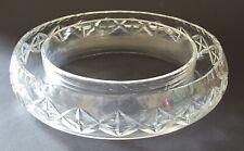 Clear cut glass vintage Art Deco antique flower ring vase