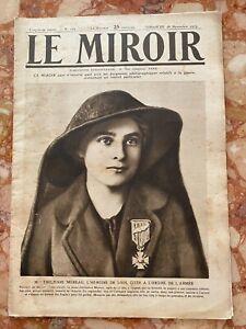 Militaria Journal LE MIROIR n°105 du 28-11-1915 (envoi monde gratuit)