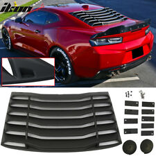 Fits 16-18 Chevy Camaro IKON Rear Window Louvers Cover Sun Shade ABS