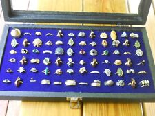 72 Piece Vintage Rings ( 7 SILVER Rings & 1 Charm) Sarah Coventry, Avon etc...