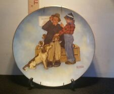 "Norman Rockwell ""Scotty Strikes A Bargain"" Collector'S Plate signed plate # 2988"