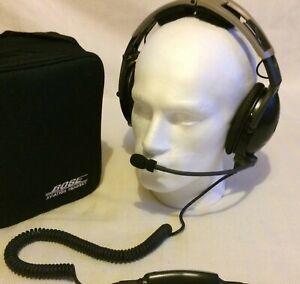 Bose X Lemo Plug Noise Cancelling Pilot Headset Aviation Flying Head Set BoseX 1