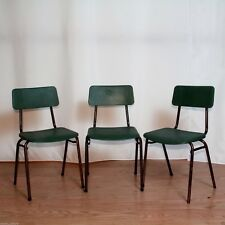 REMPLOY TUBULAR STEEL SMALL STACKING CHAIRS VINTAGE c.1960 24in H