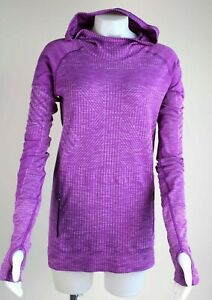Lululemon Restless Hoodie Pullover Shirt L/S Heathered Violet Purple Top Sz 10