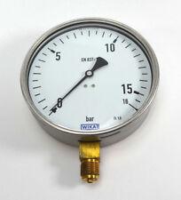 """WIKA Ø160mm Manometer 9041800 unten 0-16 bar G 1/2"""" 212.20.160 NEU OVP"""