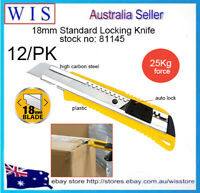 12/PK Retractable Knife Paper Knife Box Cutter Paper Economy Packing Knife-81145