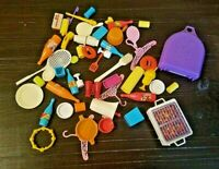 Vintage 1970s Mattel Barbie Dream House Accessories 53 Pcs Kitchen Bath More EUC