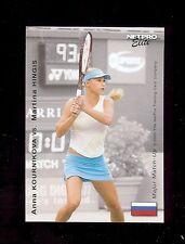 36) ANNA KOURNIKOVA vs Martina Hingis 2003 NetPro Tennis Elite Match-Up Card LOT