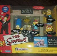 The SIMPSONS WOS NEW YEARS EVE 2003 Interactive Environment Playmates MIB