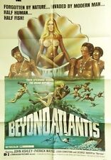 "VTG 1973 ""BEYOND ATLANTIS"" US RELAEASE 1SH 27X41 ORIG MOVIE FILM POSTER SCI-FI"