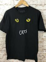 CATS broadway shirt tshirt mens XL eyes New York musical black 1981 womens D2
