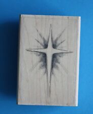 NEW Inkadinkado 'Christmas Star' Wooden Backed Rubber Stamp 99629LL 🎄