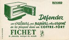 BUVARD PUBLICITAIRE / COFFRE FORT / FICHET