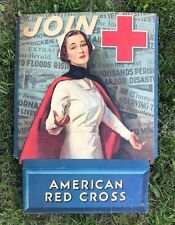 ORIGINAL WWI JOIN! AMERICAN RED CROSS STORE DISPLAY STAND POSTER