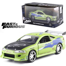JADA 1:32 FAST AND FURIOUS Brian's Mitsubishi Eclipse GEEEN DIECAST MODEL CAR