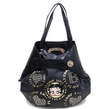 Betty Boop Black Leather Buckle Tote Style Shoulder Purse