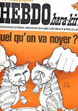 L'HEBDO hara-kiri    2 juin 1969 : n°18                        -parfait état-